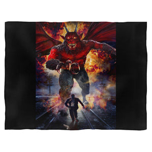 Night Of The Demon Horror Movie Fleece Blanket