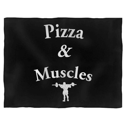 Pizza & Muscles Cheat Day Short Sleeve Tee Perfect For Cheat Day Fleece Blanket