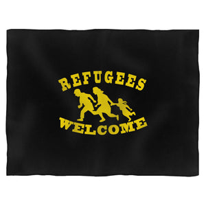 Refugees Welcome Fleece Blanket