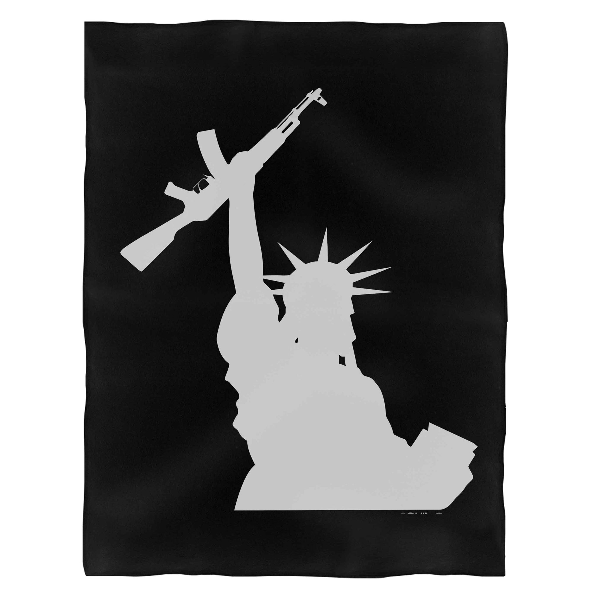 Statue Of Liberty Gun Fleece Blanket