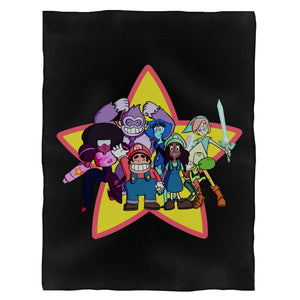 Steven Universe Super Smash Brothers Mashup Smash Bros Nintendo Cartoon Network Fleece Blanket