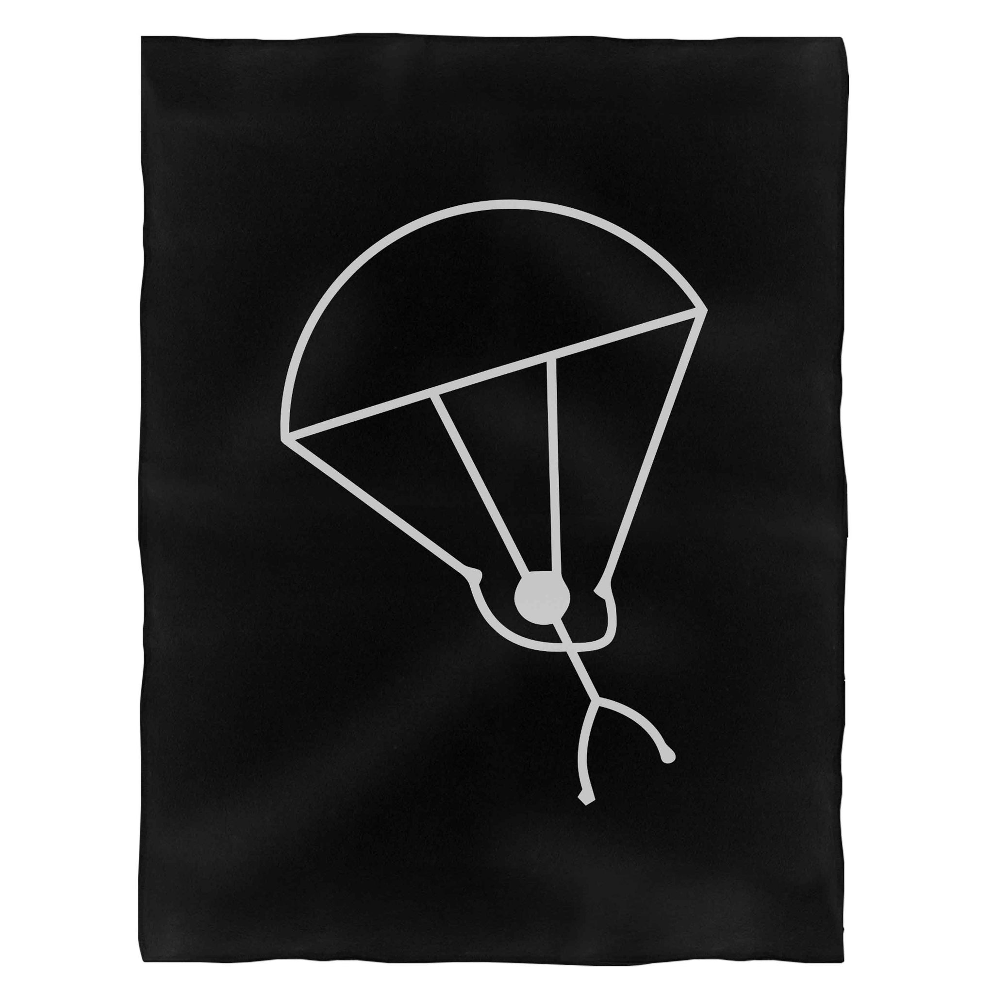 Stick Man Skydiving Fleece Blanket
