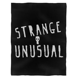 Strange And Unusual Lydia Deetz Beetlejuice Fleece Blanket