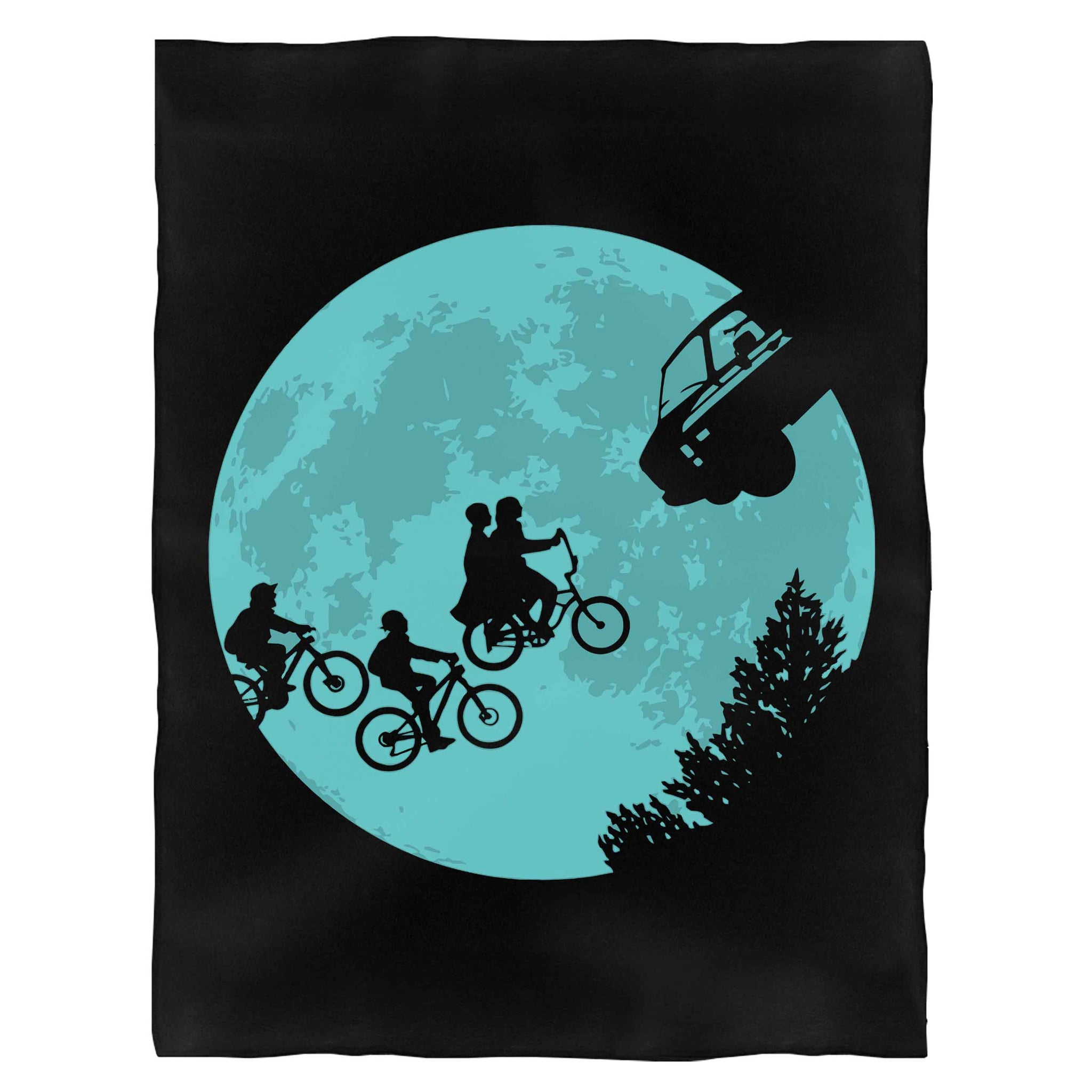 Stranger Things Moon Fleece Blanket