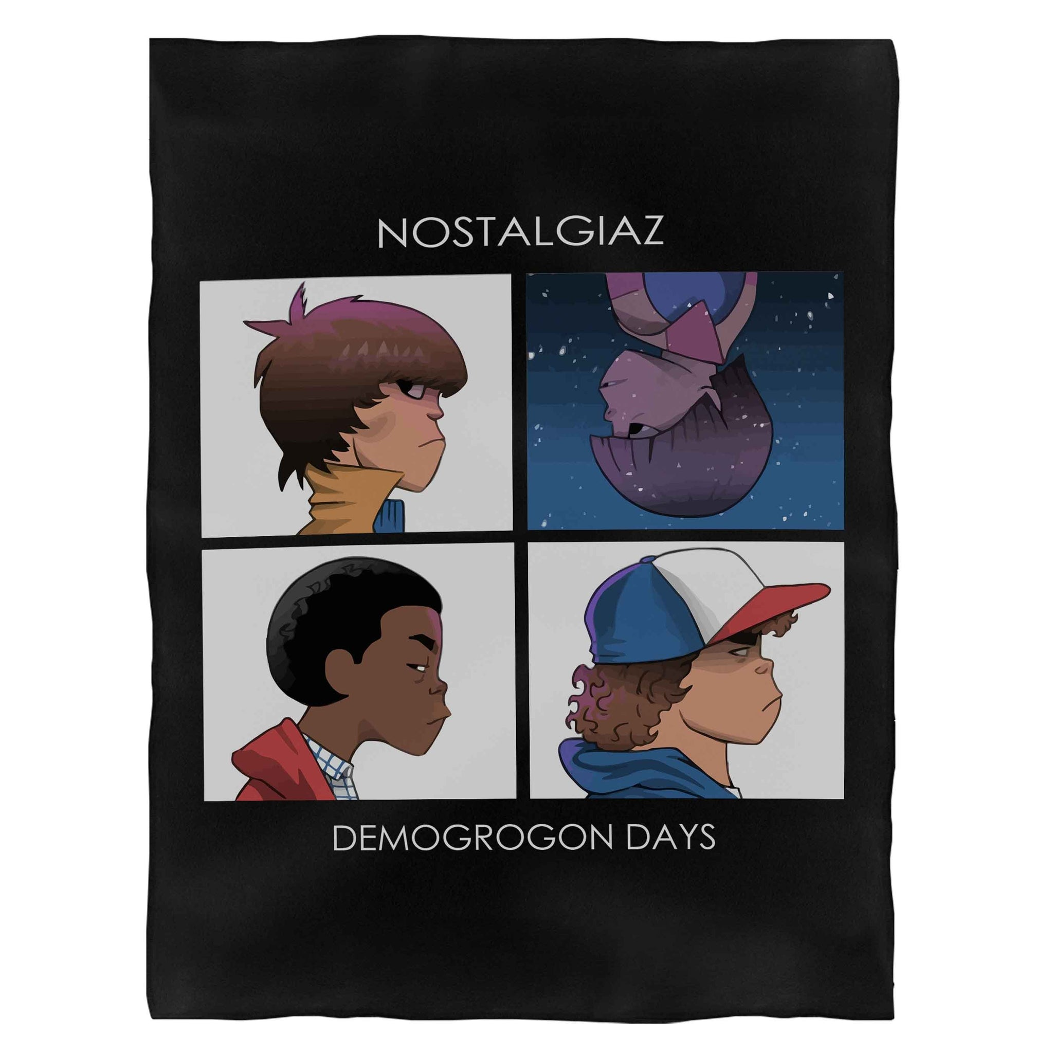 Stranger Things Parody Gorillaz Demogorgon Sci Fi Fantasy Fleece Blanket