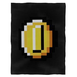 Super Mario Bros Coin Fleece Blanket
