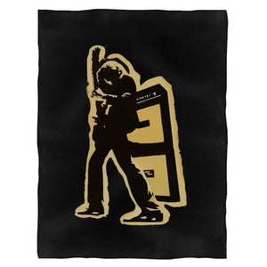 T Rex Electric Warrior Fleece Blanket
