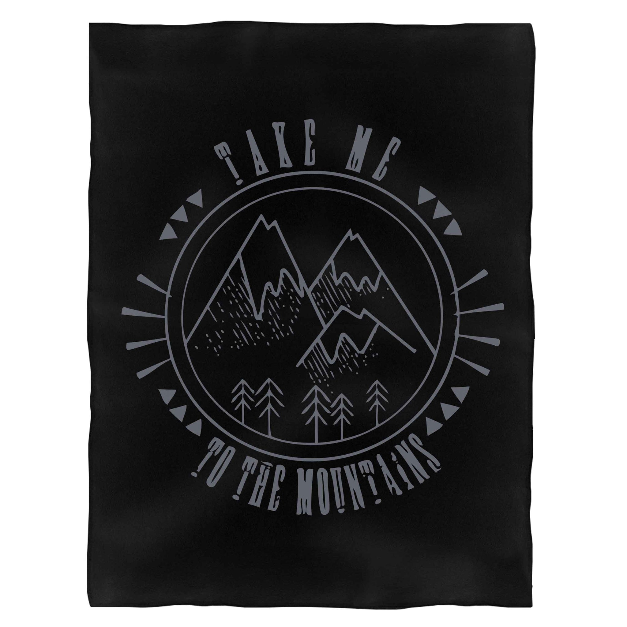 Take Me To The Mountains Outdoors Hiking Camping Vintage Nature Twin Peak Fleece Blanket