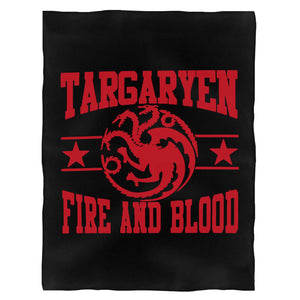 Targaryen House Fire And Blood Mother Of Dragons Game Of Thrones Fleece Blanket
