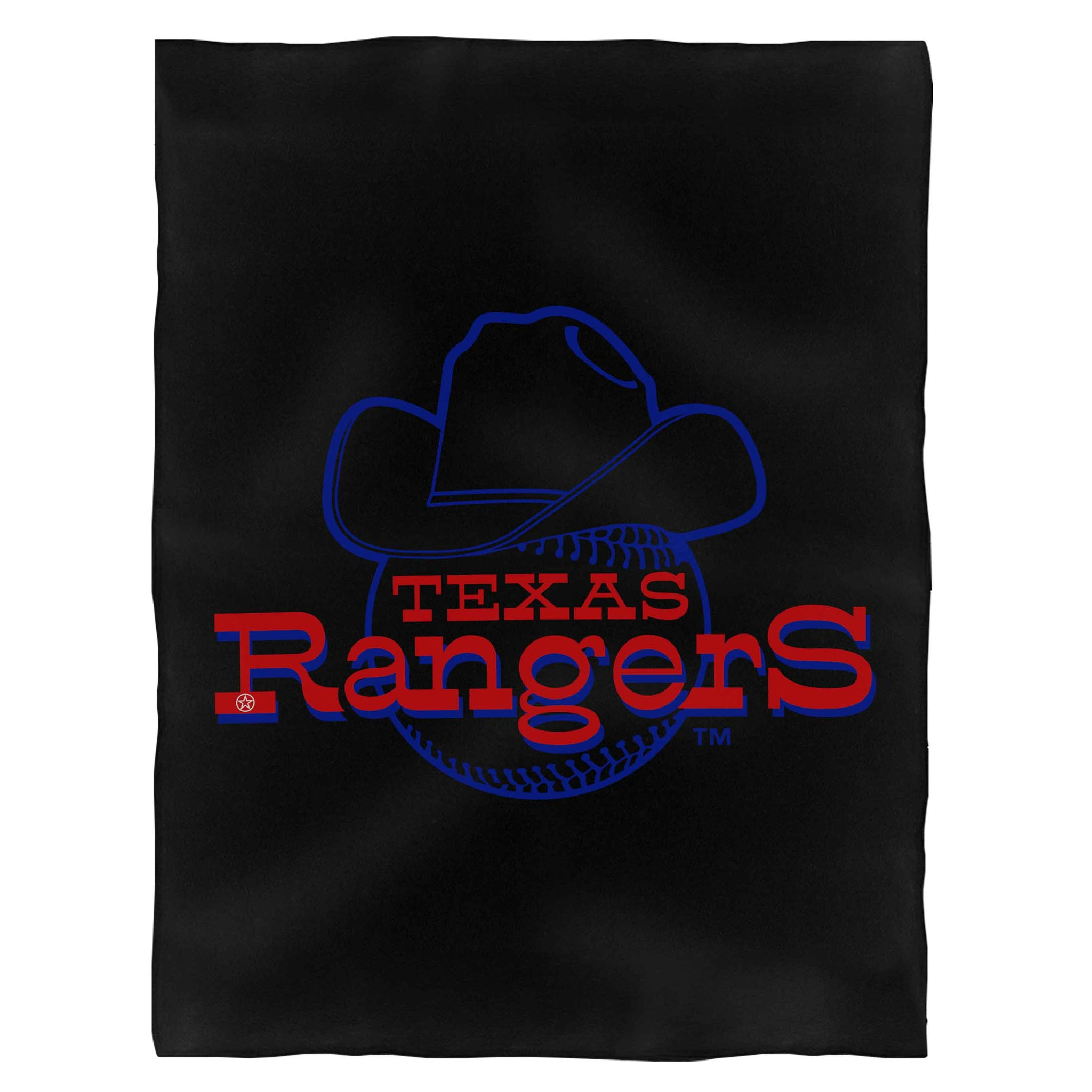 Texas Rangers Logo Fleece Blanket