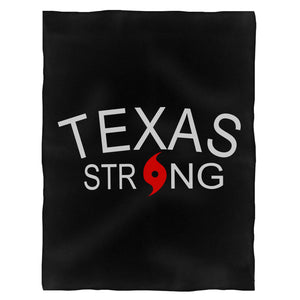Texas Strong Hurricane Harvey Support Fleece Blanket