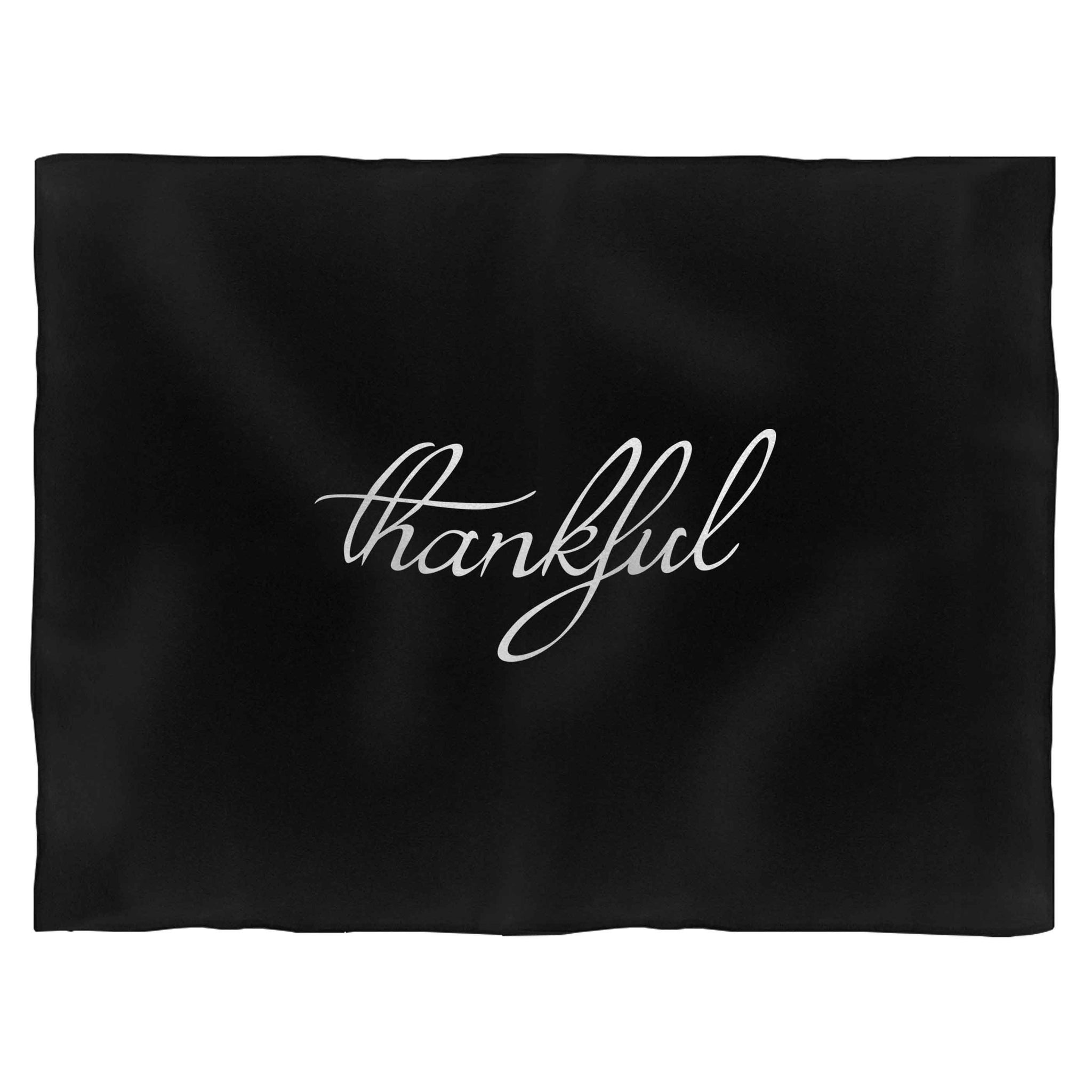 Thankful Thanksgiving Fleece Blanket