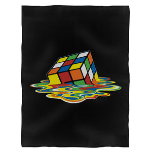 The Big Bang Theory Rubik'S Cube Fleece Blanket