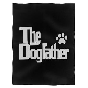 The Dogfather Dog Lover Funny Fleece Blanket