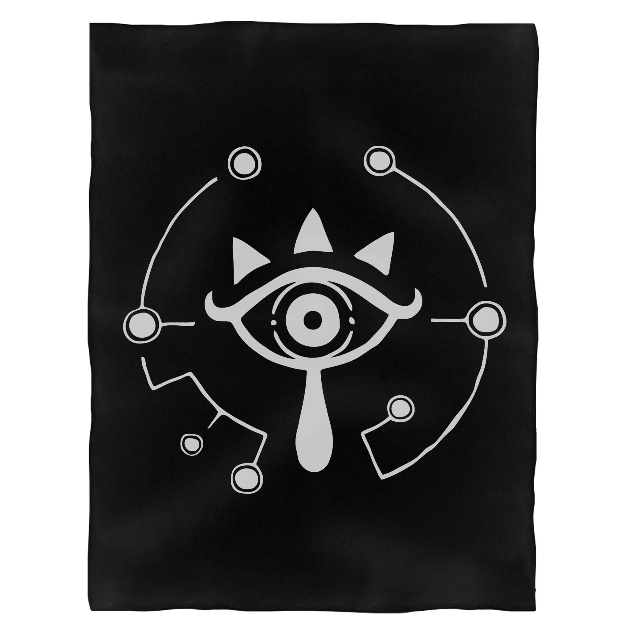 The Legend Of Zelda Breath Of The Wild Sheikah Eye Fleece Blanket