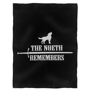 The North Remembers Game Of Thrones Wolf John Snow Fleece Blanket