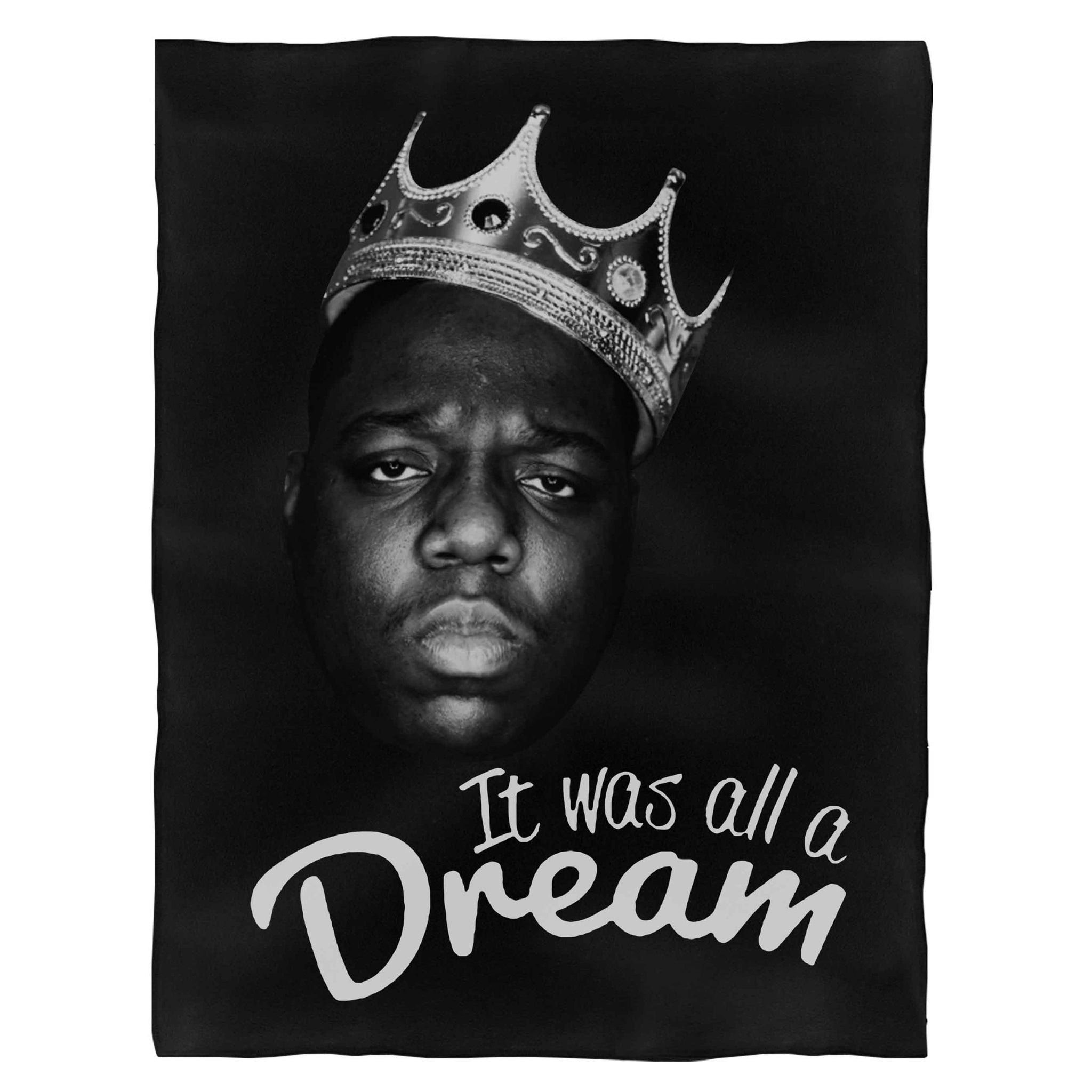 The Notorious Big Biggie Smalls It Was All A Dream Fleece Blanket
