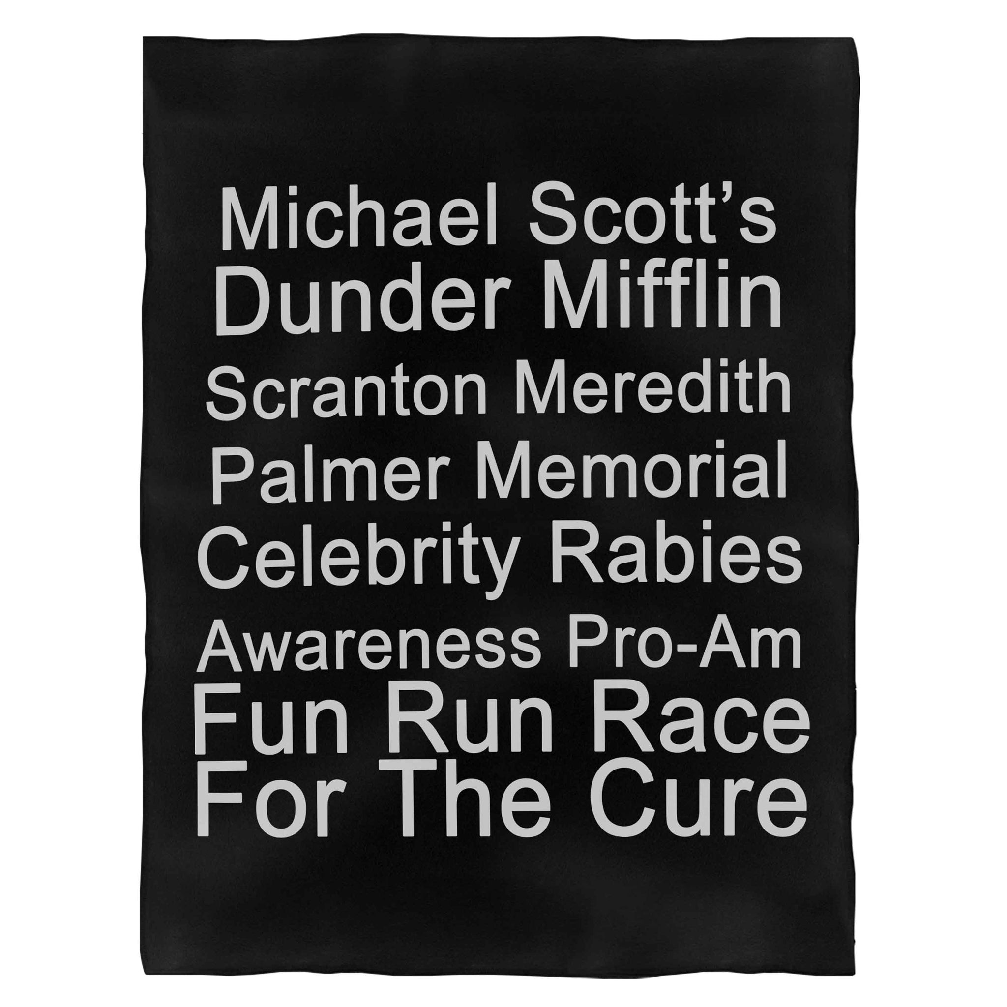 The Offieve Tv Show Michael Scott Race For The Cure Fleece Blanket
