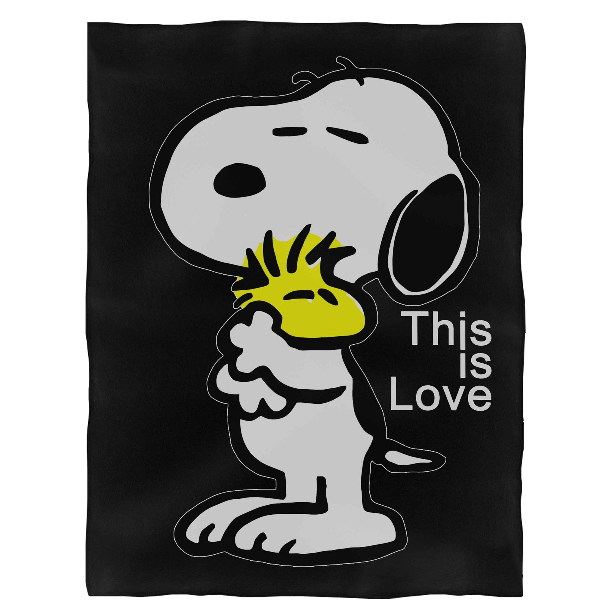 The Peanut Gang Snoopy And Woodstock This Is Love Fleece Blanket