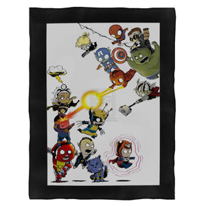 The Pretty Cute Baby Superhero Art Fleece Blanket