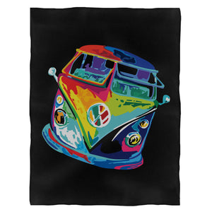 The Rusty Vw Psyche Bus Fleece Blanket