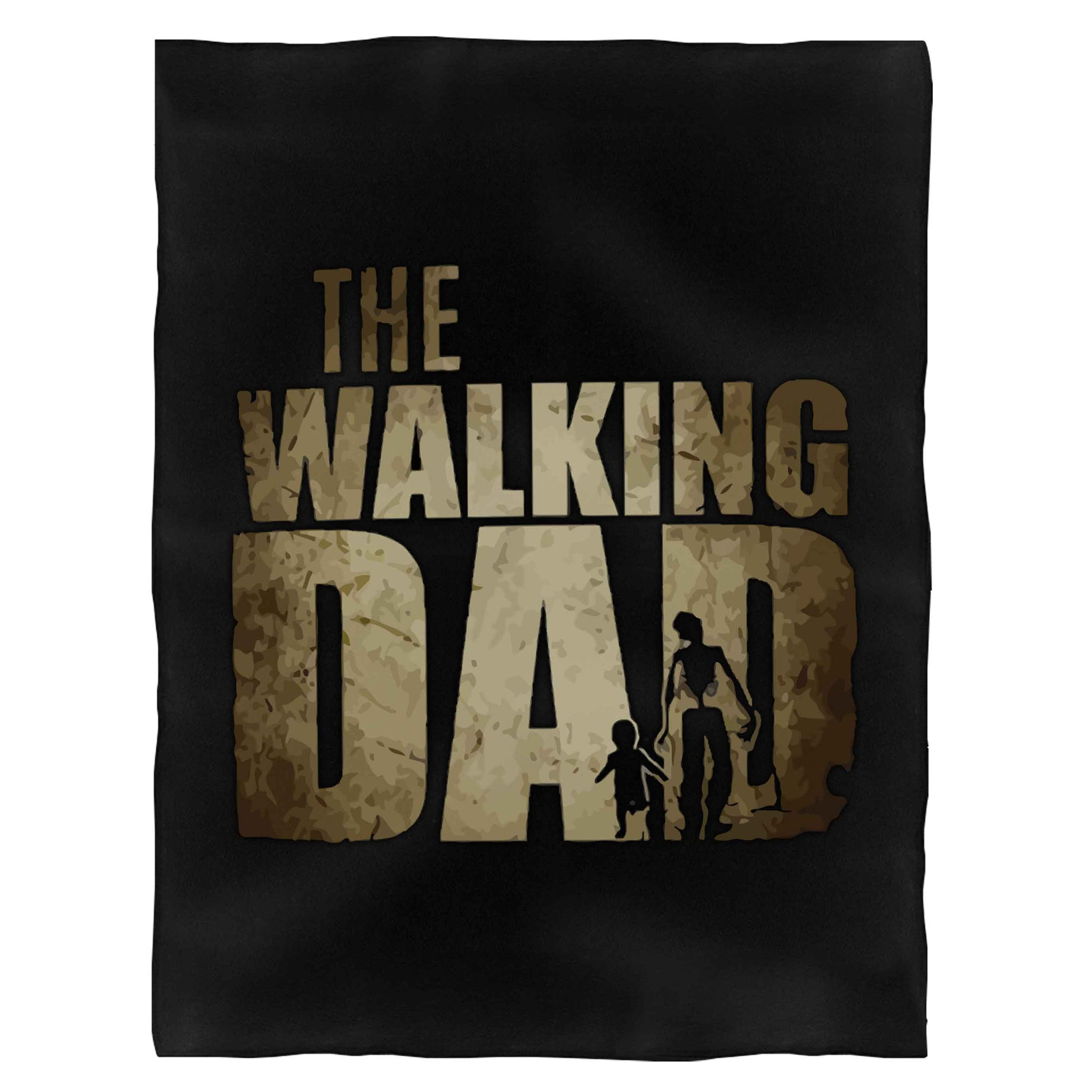 The Walking Dad Funny New Dad Fleece Blanket