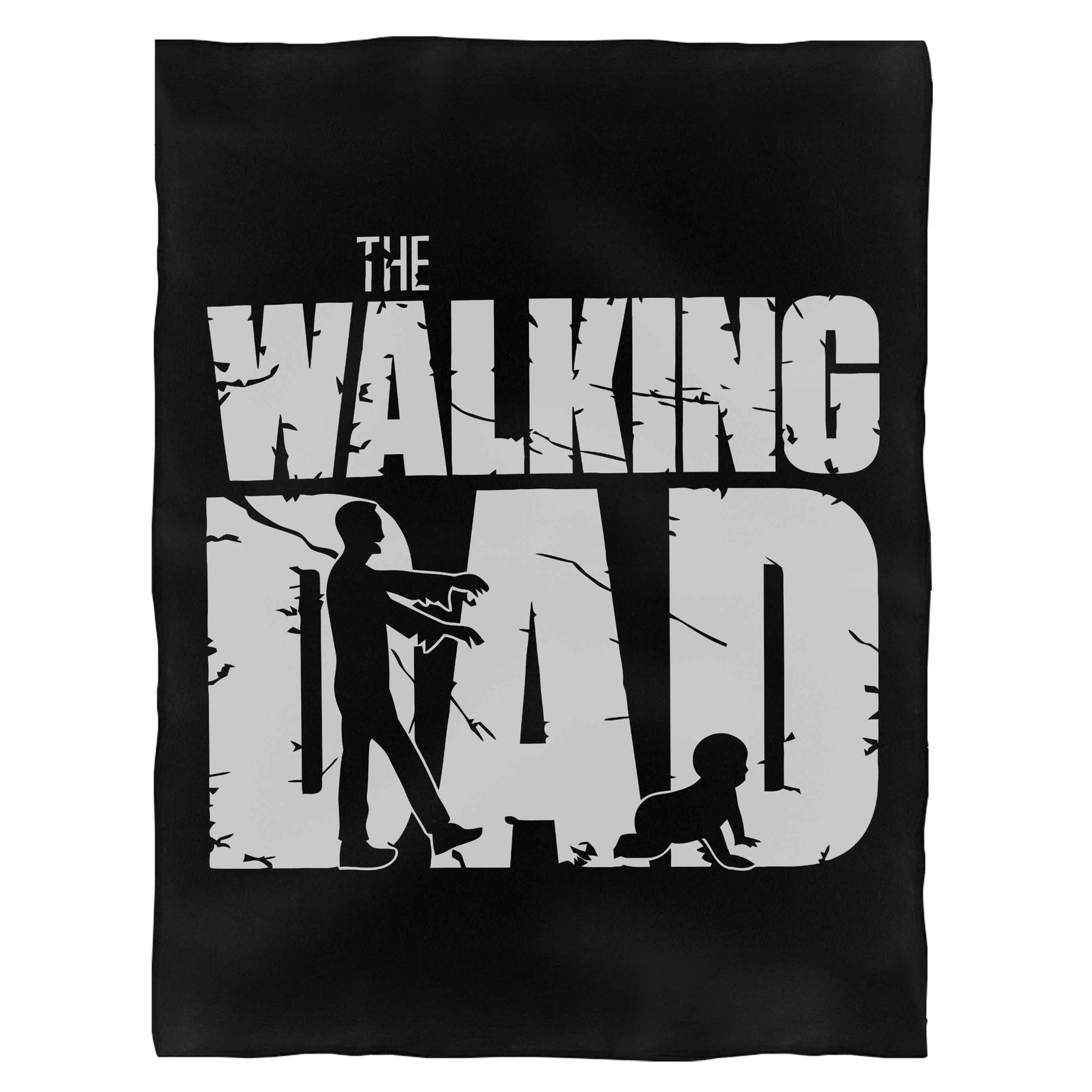 The Walking Dead Dad Fathers Day Dads Birthday  Fleece Blanket
