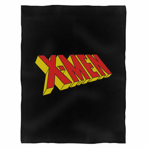 X Men Retro Logo Fleece Blanket