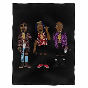 Young Rich Nation Migos Fleece Blanket