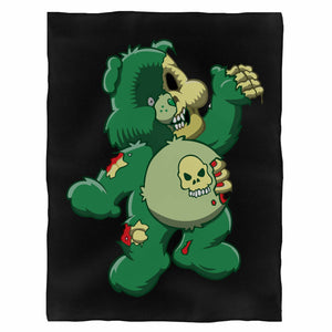 Zombie Care Bear Halloween Fleece Blanket