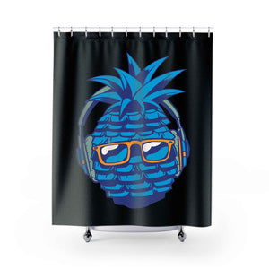 Cool Blue Pineapple Shower Curtains