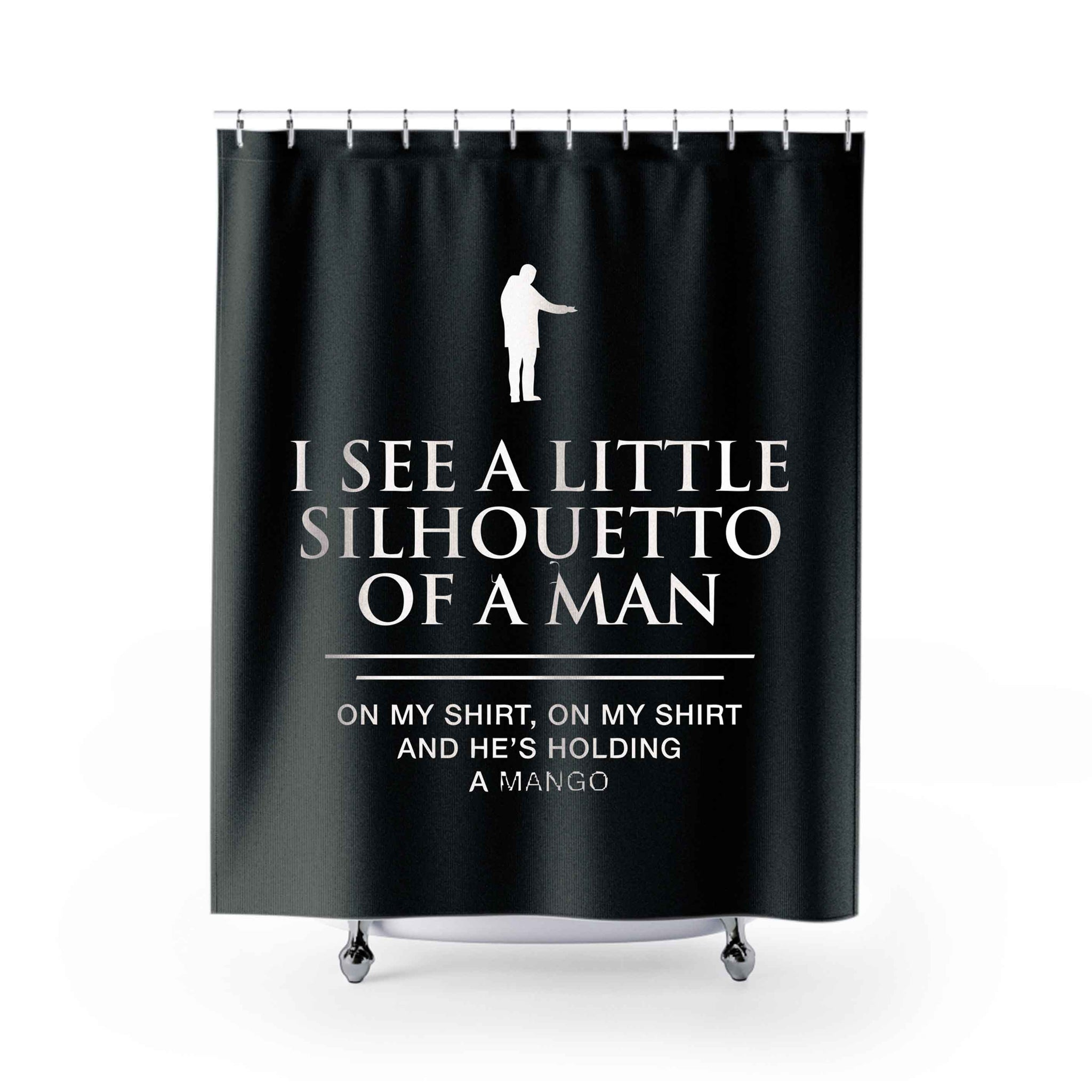 Funny Mango Shower Curtains