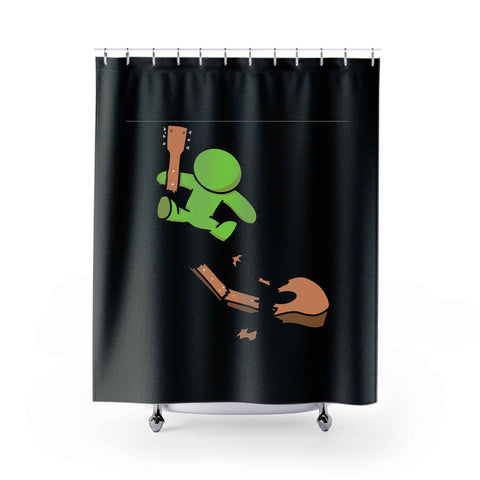 Green Dude Shower Curtains