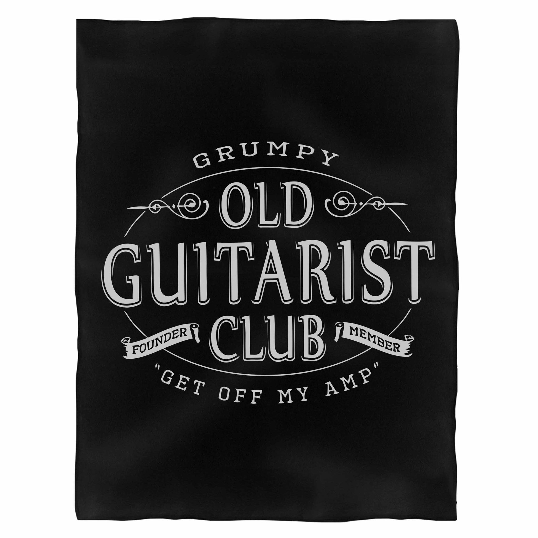 Grumpy Old Guitarist Club Fleece Blanket