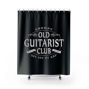 Grumpy Old Guitarist Club Shower Curtains