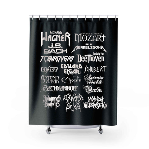 Heavy Metal Shower Curtains
