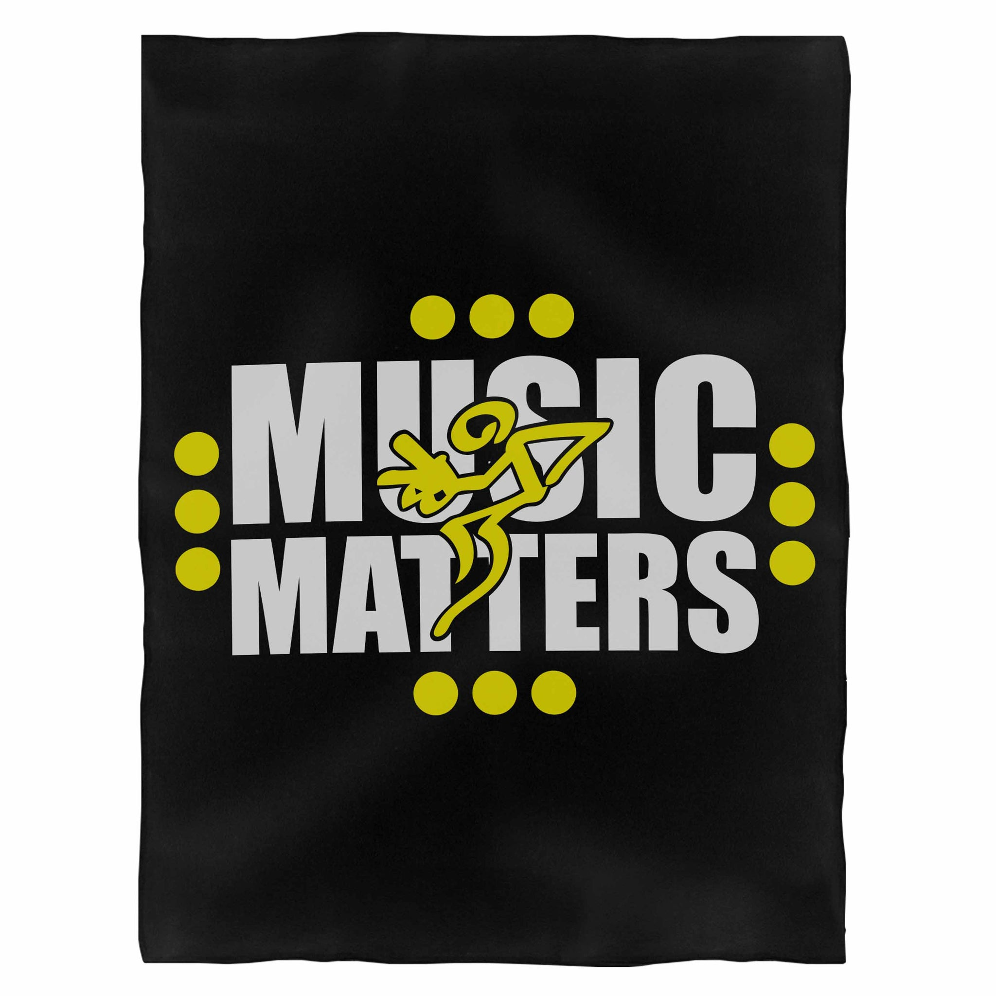 Music Matters 2 Color Design Fleece Blanket