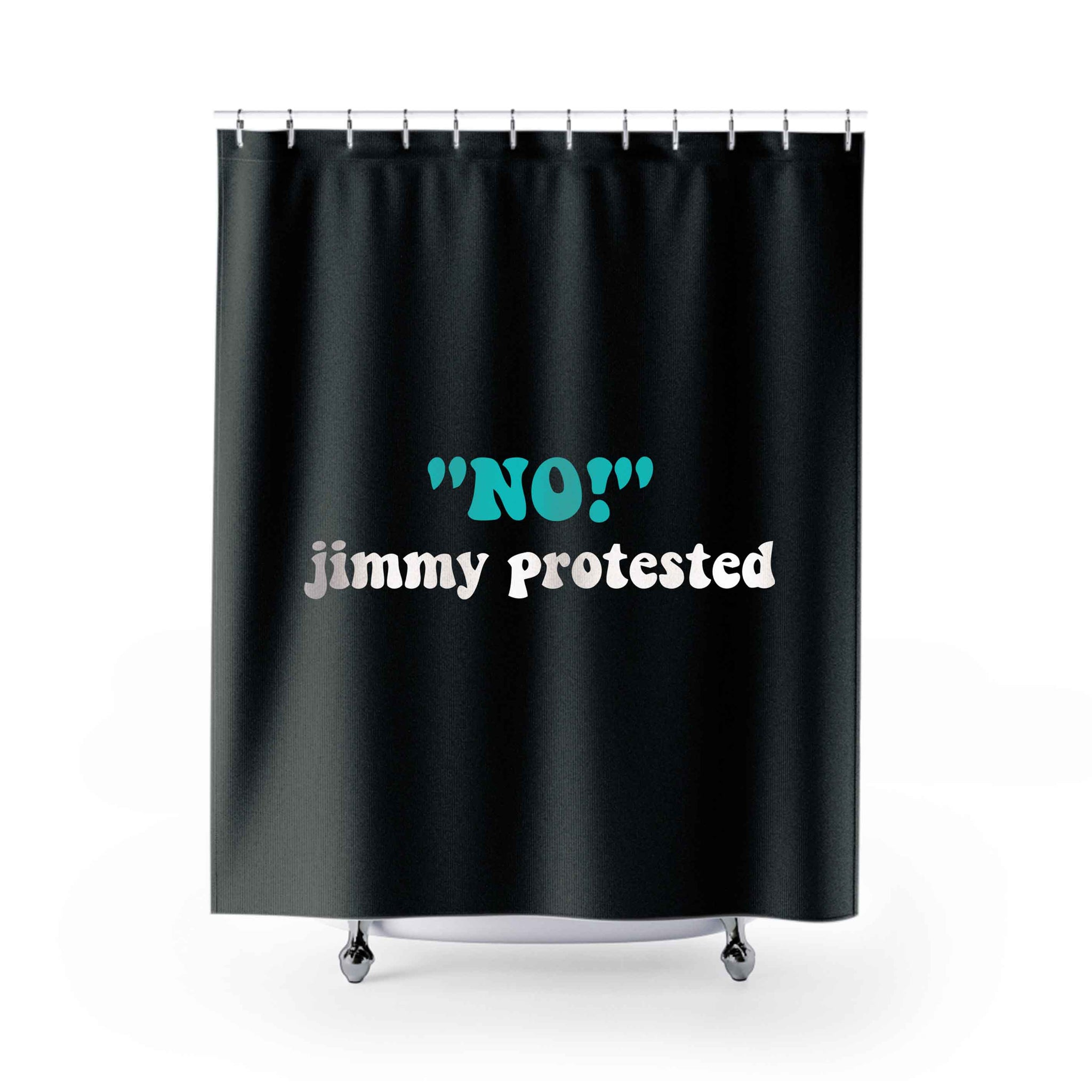 No Jimmy Protested Shower Curtains