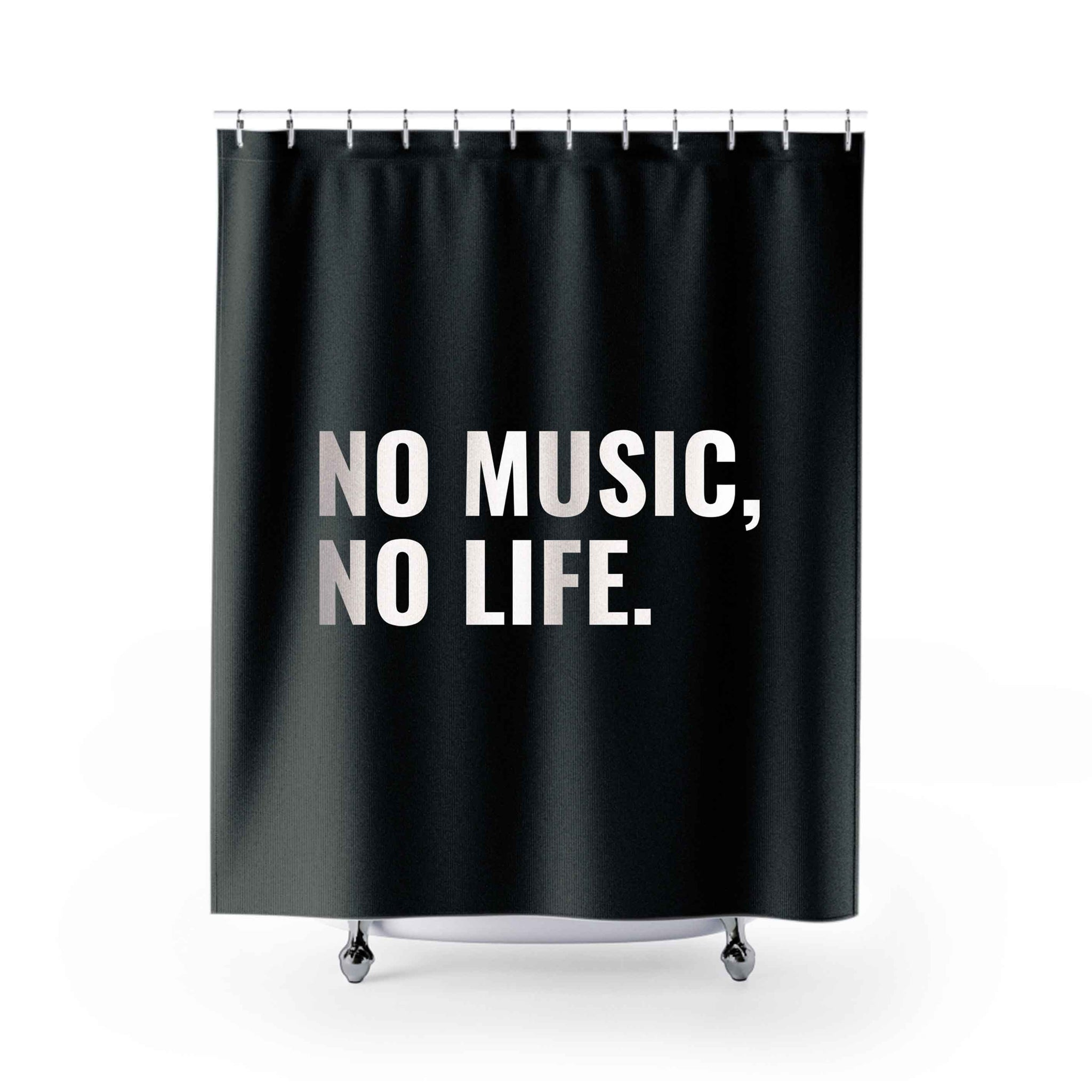 No Music No Life Shower Curtains
