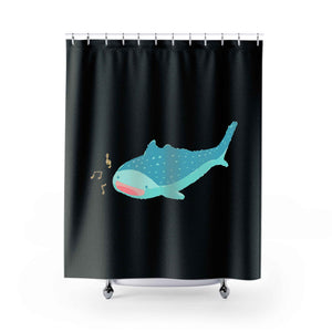 Olivia The Singing Whale Shark Shower Curtains
