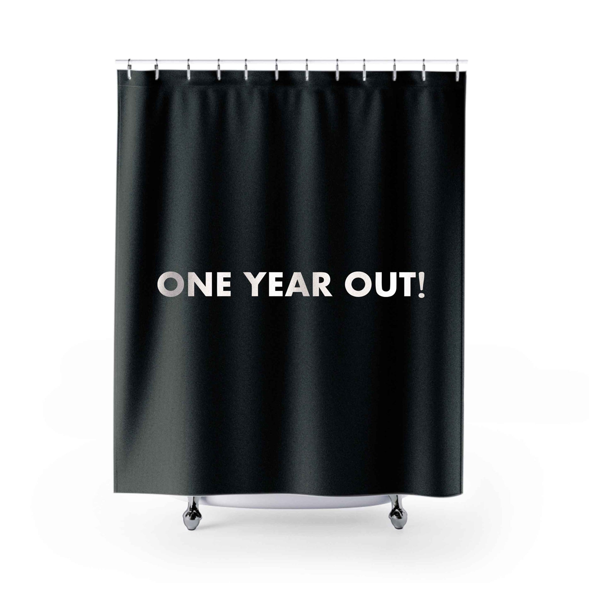 One Year Out Shower Curtains