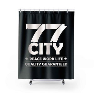 Peace Work Life Shower Curtains