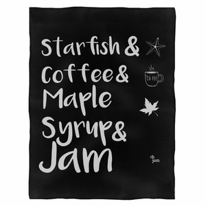 Prince Starfish Ampamp Coffee Fleece Blanket