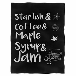Prince Starfish Coffee Fleece Blanket