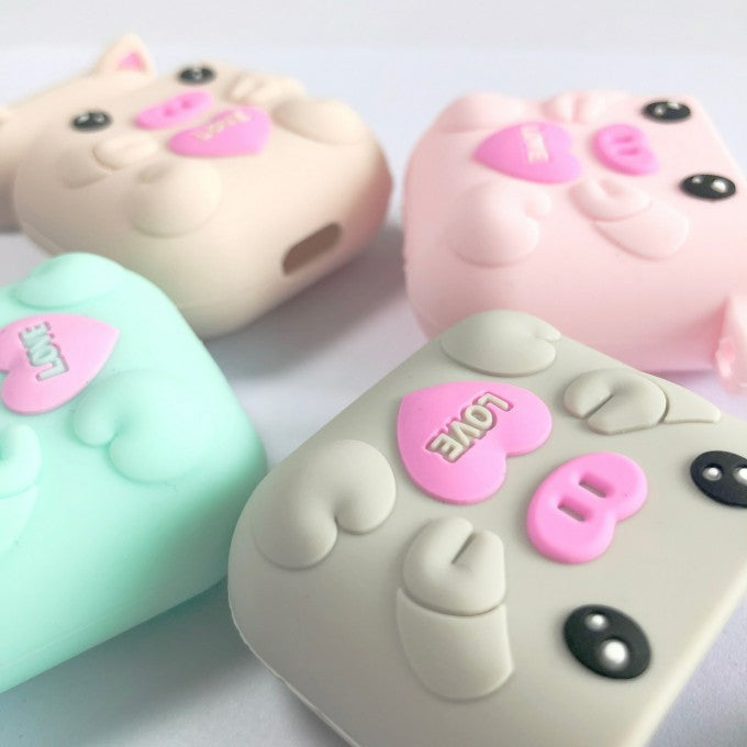 Silicone Cartoon Pig Protactive for Apple AirPods with Wireless Charging Case (2019)
