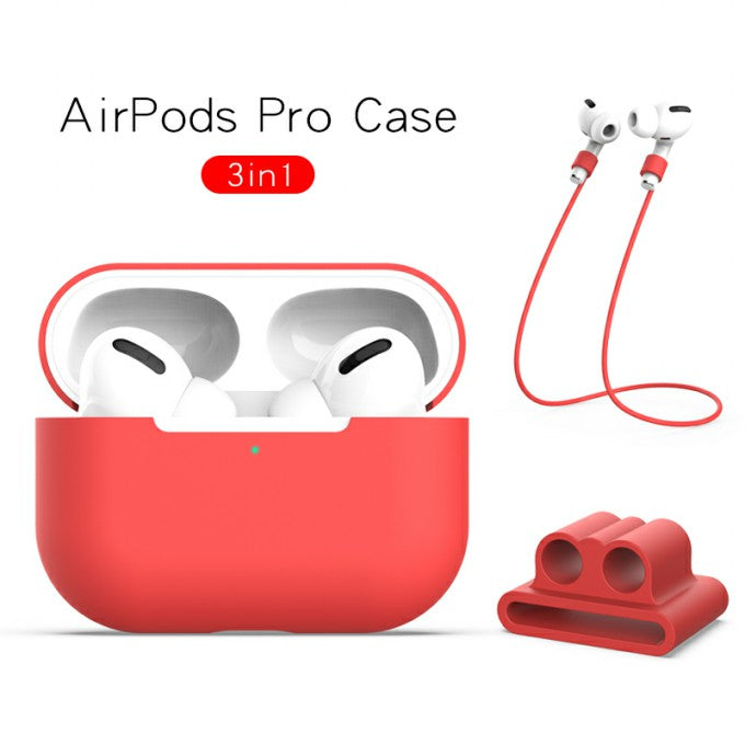Silicone with Strap+Fixed Protactive for Apple AirPods Pro
