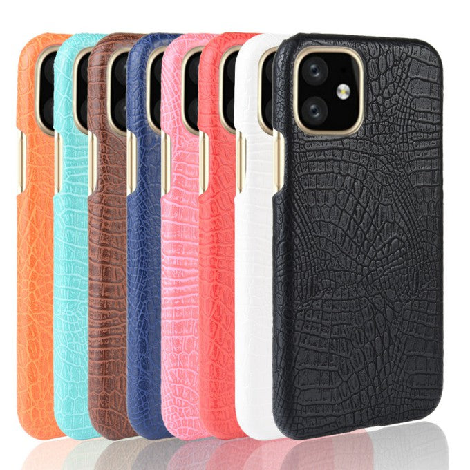 Crocodile Texture PU Leather Phone Case for iPhone 11 6.1 inch (2019)