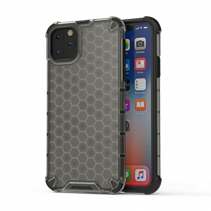 Honeycomb Pattern PC + TPU Protective Case for iPhone 11 6.1 inch