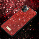 Glittery Surface PU Leather Protective Case for iPhone 11 Pro 5.8 inch