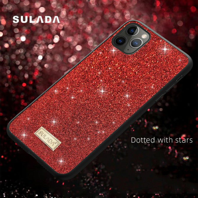 Glittery Surface PU Leather Protective Case for iPhone 11 Pro Max 6.5 inch